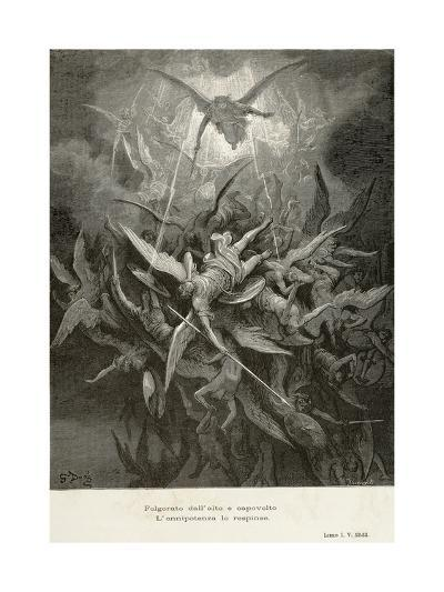 The Fall of Angels, Scene from Paradise Lost by John Milton--Giclee Print