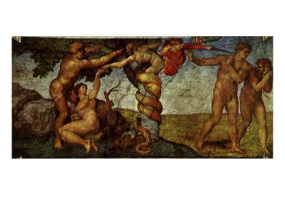 The Fall of Man, 1509-Michelangelo Buonarroti-Giclee Print