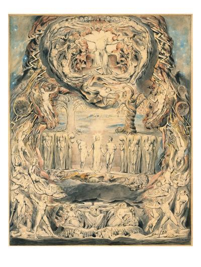 The Fall of Man-William Blake-Giclee Print