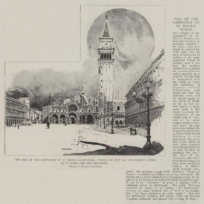 The Fall of the Campanile of St Mark's Cathedral-Joseph Holland Tringham-Giclee Print