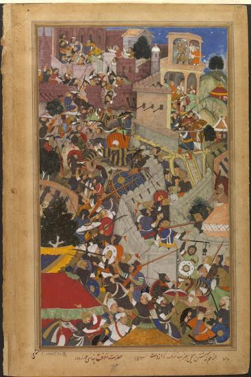 The Fall of the Rajasthani Fortress of Chitor--Art Print
