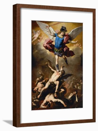 The Fall of the Rebel Angels, C. 1660-Luca Giordano-Framed Giclee Print