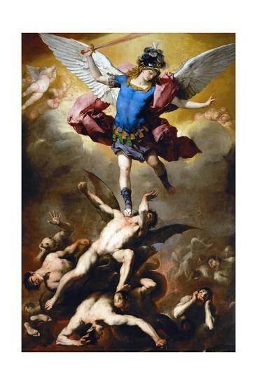 The Fall of the Rebel Angels-Luca Giordano-Giclee Print