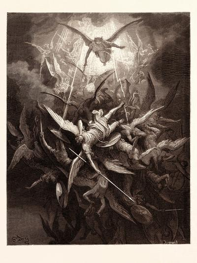 The Fall of the Rebel Angels-Gustave Dore-Giclee Print