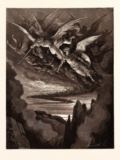 The Fallen Angels on the Wing-Gustave Dore-Giclee Print