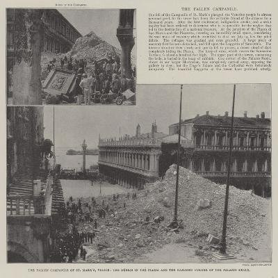 The Fallen Campanile of St Mark'S--Giclee Print