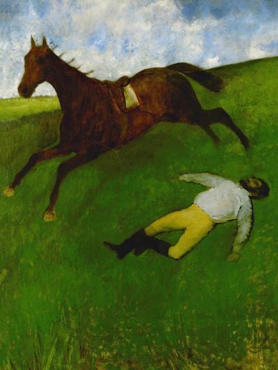 The Fallen Jockey, 1896-1898-Edgar Degas-Giclee Print