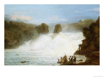 The Falls at Schaffhausen-Josef Stumpf-Giclee Print