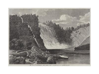 The Falls of Montmorency, Near Quebec-George Henry Andrews-Giclee Print