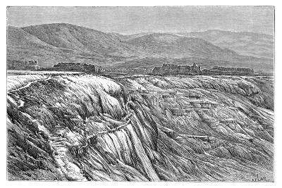 The Falls of Pambuk-Kaleh (Or Tambu), 1895--Giclee Print
