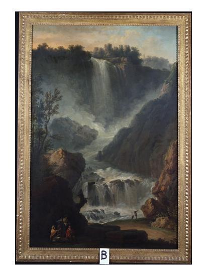 The Falls of Terni-Claude Joseph Vernet-Giclee Print