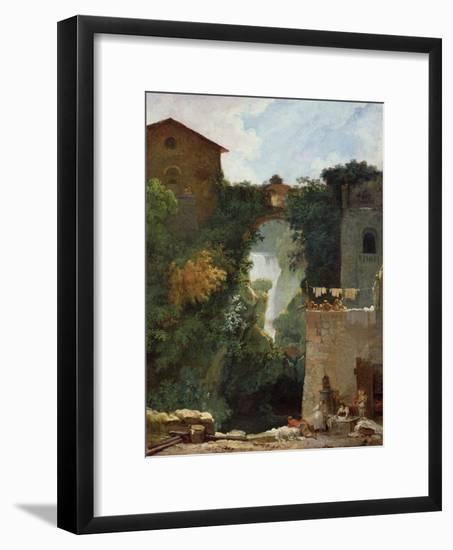 The Falls of Tivoli-Jean-Honoré Fragonard-Framed Giclee Print