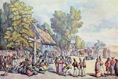 The Falmouth Road, Late 18th-Early 19th Century-Thomas Rowlandson-Giclee Print