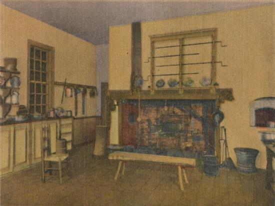 'The Family Kitchen', 1946-Unknown-Giclee Print