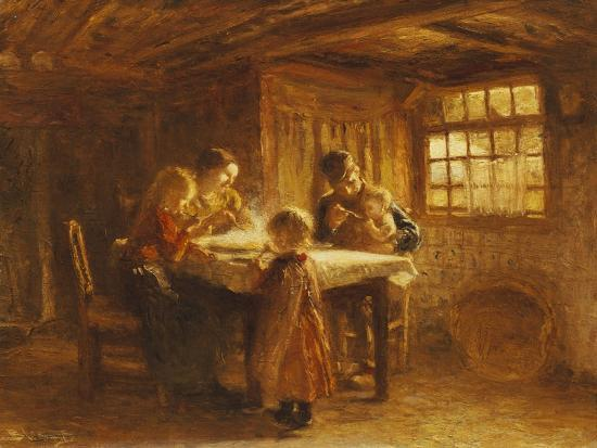 The Family Meal-Bernardus Bloomers-Giclee Print