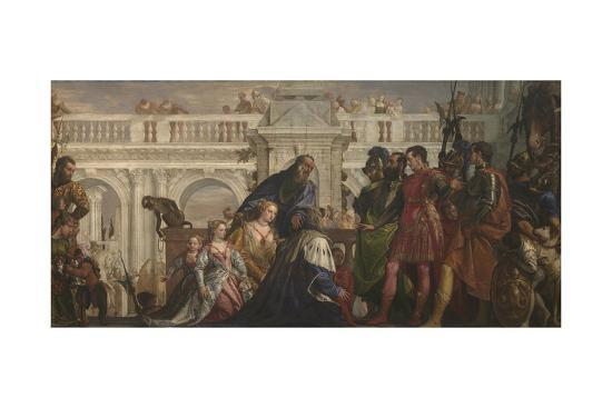 The Family of Darius before Alexander, C. 1565-Paolo Veronese-Giclee Print