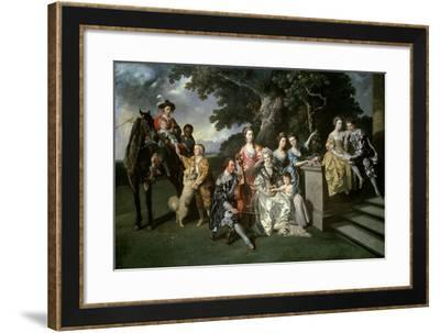 The Family of Sir William Young (1725-88) C.1766-Johann Zoffany-Framed Giclee Print