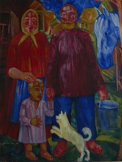The Family of the Serednyaks, 1929-Viktor Nikandrovich Palmov-Giclee Print