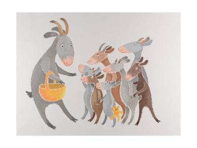 The Family with Seven Little Kids-Susie Jenkin Pearce-Art Print