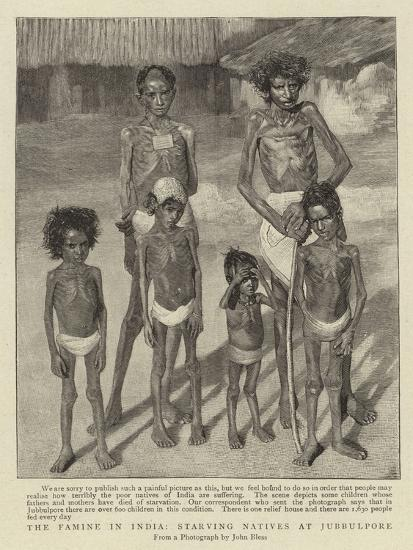 The Famine in India, Starving Natives at Jubbulpore--Giclee Print