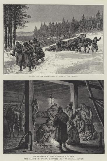 The Famine in Russia-Johann Nepomuk Schonberg-Giclee Print
