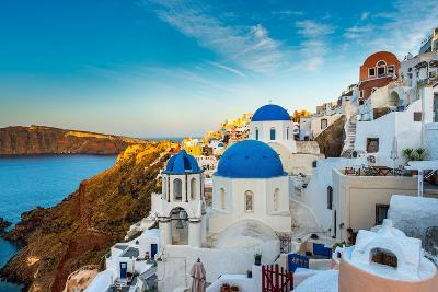 The Famous Blue and White City Oia,Santorini-scorpp-Photographic Print