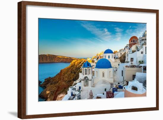The Famous Blue and White City Oia,Santorini-scorpp-Framed Photographic Print