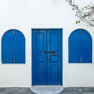 The Famous Blue and White City Oia,Santorini-scorpp-Photographic Print