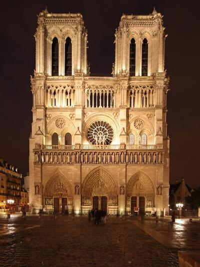 The Famous Cathedral of Notre Dame in Paris after the Rain, France-David Bank-Photographic Print