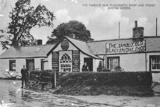 The Famous Old Blacksmith's Shop, Gretna Green, Dumfriesshire, Scotland, 20th Century--Giclee Print