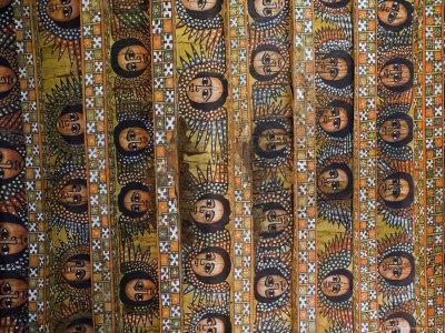 The Famous Painting of the Winged Heads of 80 Ethiopian Cherubs, Debre Selassie Church, Ethiopia-Gavin Hellier-Photographic Print