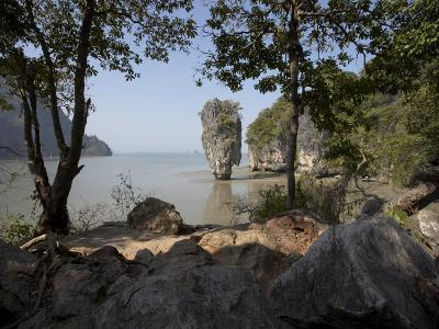 The Famous Rock from the Bond Movie, View from Ko Tapu, James Bond Island, Phang Nga, Thailand-Joern Simensen-Photographic Print