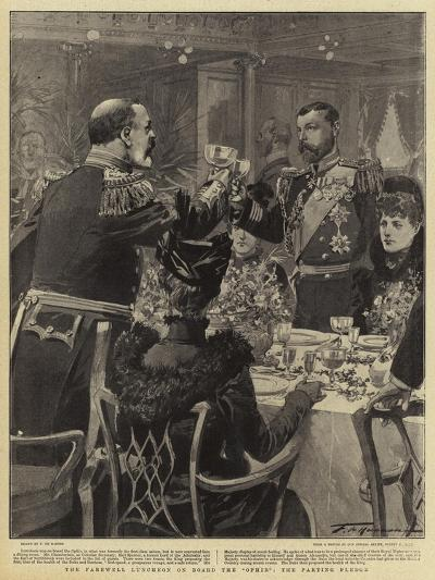 The Farewell Luncheon on Board the Ophir the Parting Pledge-Frederic De Haenen-Giclee Print