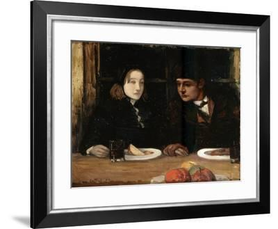 The Farewell Supper, (Toilers of the Se), 1897-Charles Cottet-Framed Giclee Print