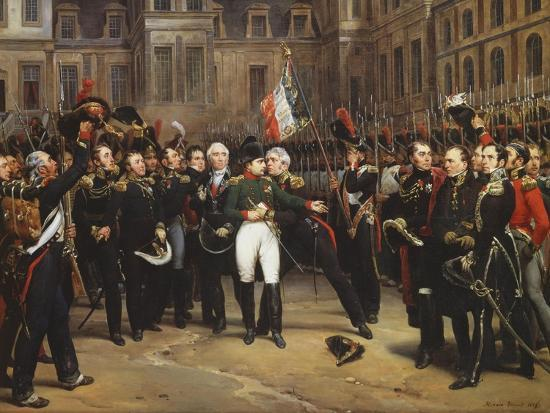 The Farewells of Fontainebleau, 20th April 1814-Horace Vernet-Giclee Print