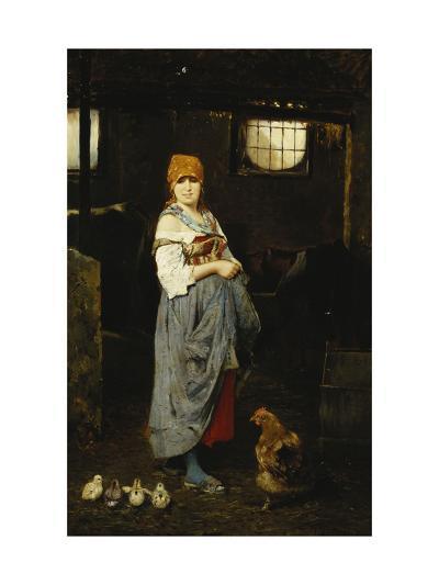 The Farm Girl-F. Ducale-Giclee Print