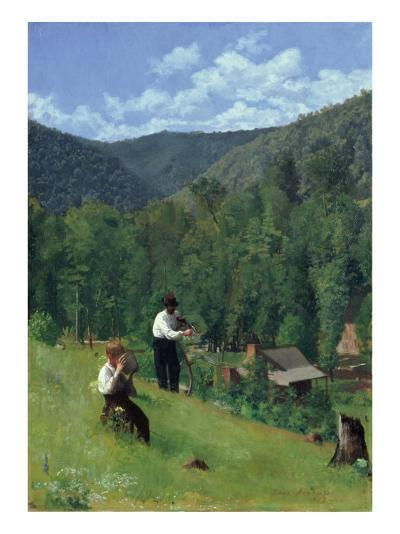 The Farmer and His Son at Harvesting, 1879-Thomas Pollock Anshutz-Giclee Print