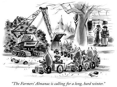 """The Farmers' Almanac is calling for a long, hard winter."" - New Yorker Cartoon-Lee Lorenz-Premium Giclee Print"
