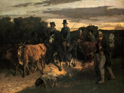 The Farmers of Flagey (Les Paysans De Flagey), 1855-Gustave Courbet-Giclee Print