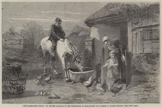 The Farmhouse Porch-Walter Goodall-Giclee Print
