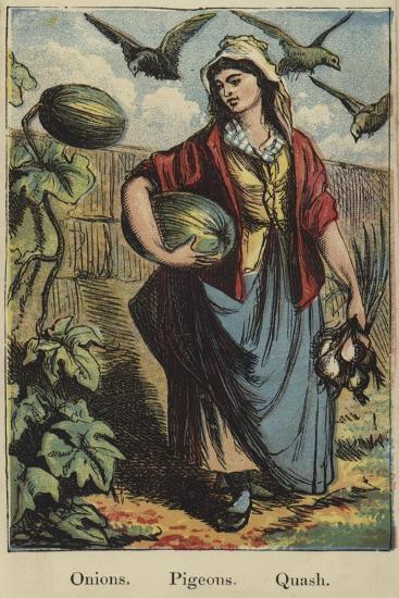 The Farmyard Alphabet--Giclee Print