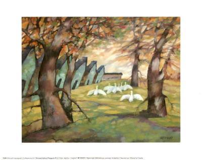 The Farmyard-Claudette Castonguay-Art Print
