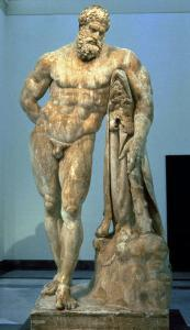 The Farnese Hercules, Roman Copy after a Greek Original by Lisippus, 3rd Century