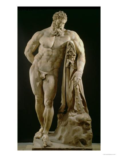The Farnese Hercules, Roman Copy of Greek Original-Lysippos-Giclee Print