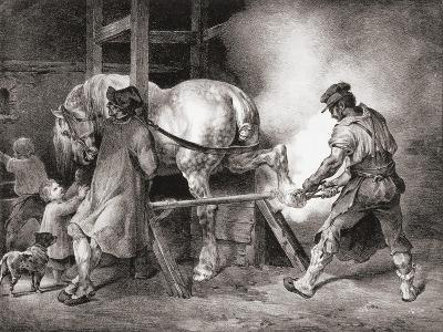 The Farrier, from Etudes De Cheveaux, 1822-Th?odore G?ricault-Giclee Print