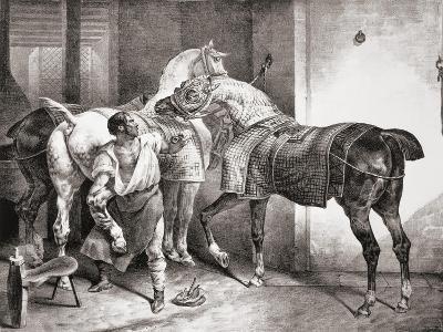 The Farrier, from Etudes De Cheveaux, 1822-Th?odore G?ricault-Giclee Print