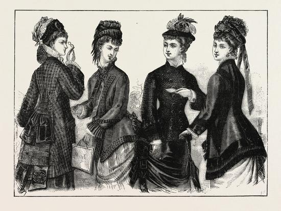 The Fashions: Ladies Cloaks for Autumn, 1876, UK--Giclee Print