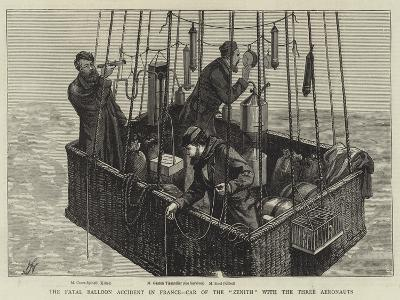 The Fatal Balloon Accident in France, Car of the Zenith with the Three Aeronauts--Giclee Print