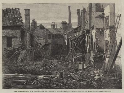 The Fatal Explosion at a Percussion-Cap Manufactory in Graham-Street, Birmingham, View of the Ruins-Richard Principal Leitch-Giclee Print