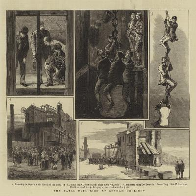 The Fatal Explosion at Seaham Colliery--Giclee Print
